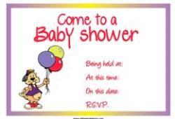 baby shower invite balloons