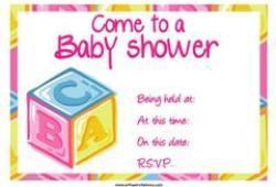 ABC Baby shower invitation free