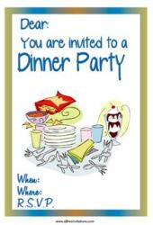 Dinner invitation chcolate sundae cutlery
