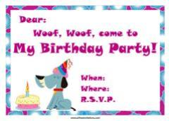 Purple theme dog birthday invitation cake candles
