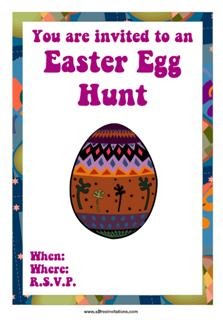 happy easter party invitations