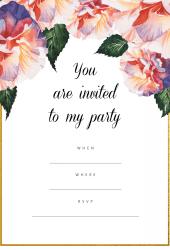 colourful party invitation