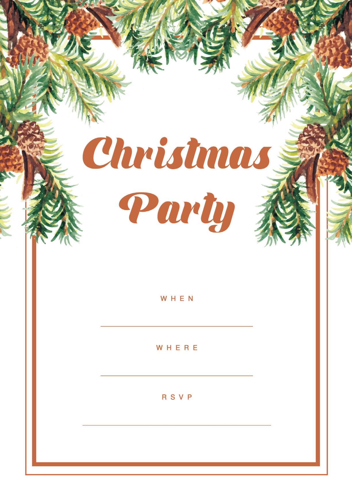 holiday party invitation christmas