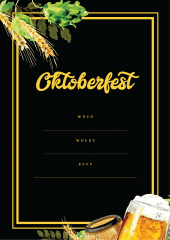 Oktoberfest black party invitation design