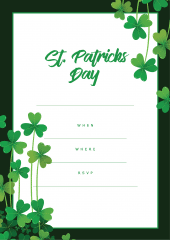 St Patrick's Day party invitation