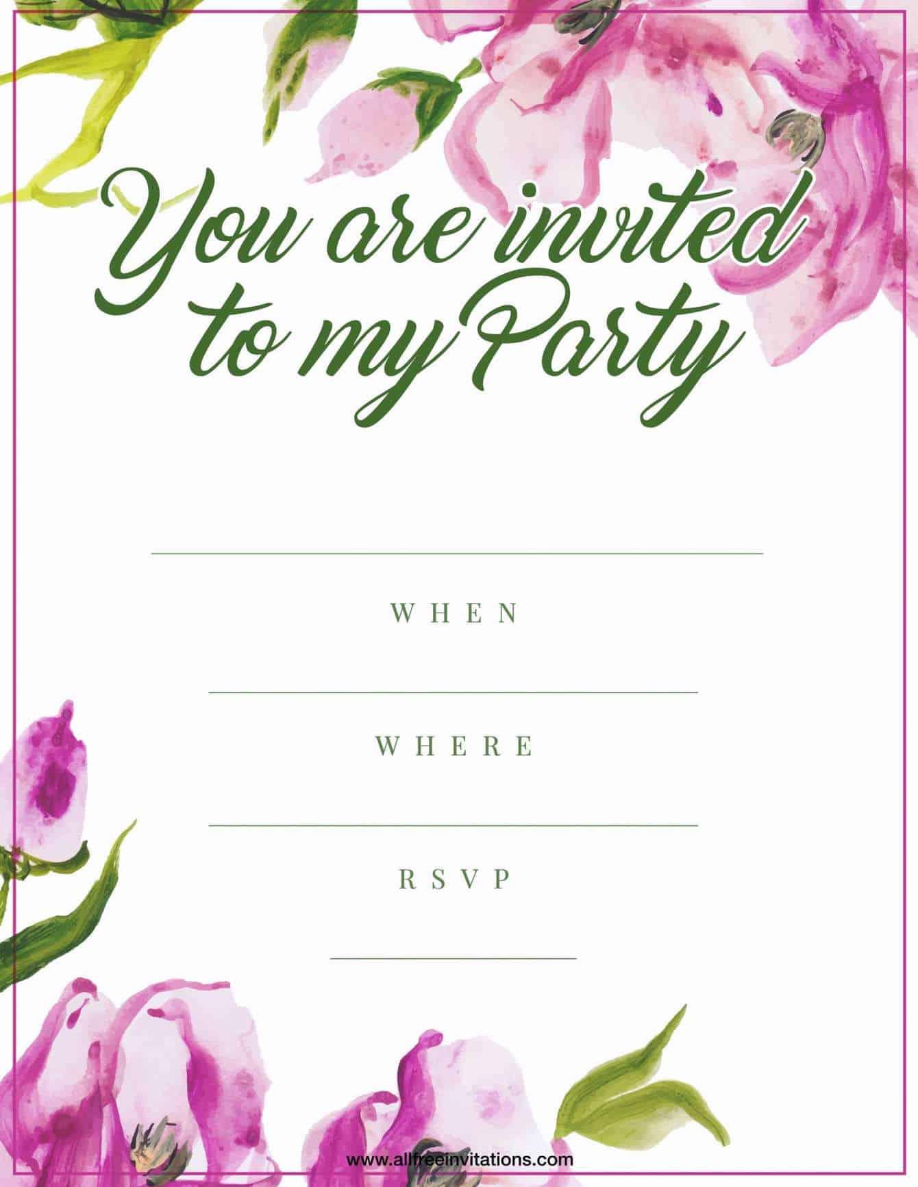 http://allfreeinvitations.com/wp-content/uploads/2018/03/Birthday-Party-Invitation-Pink-Floral-Design.jpg