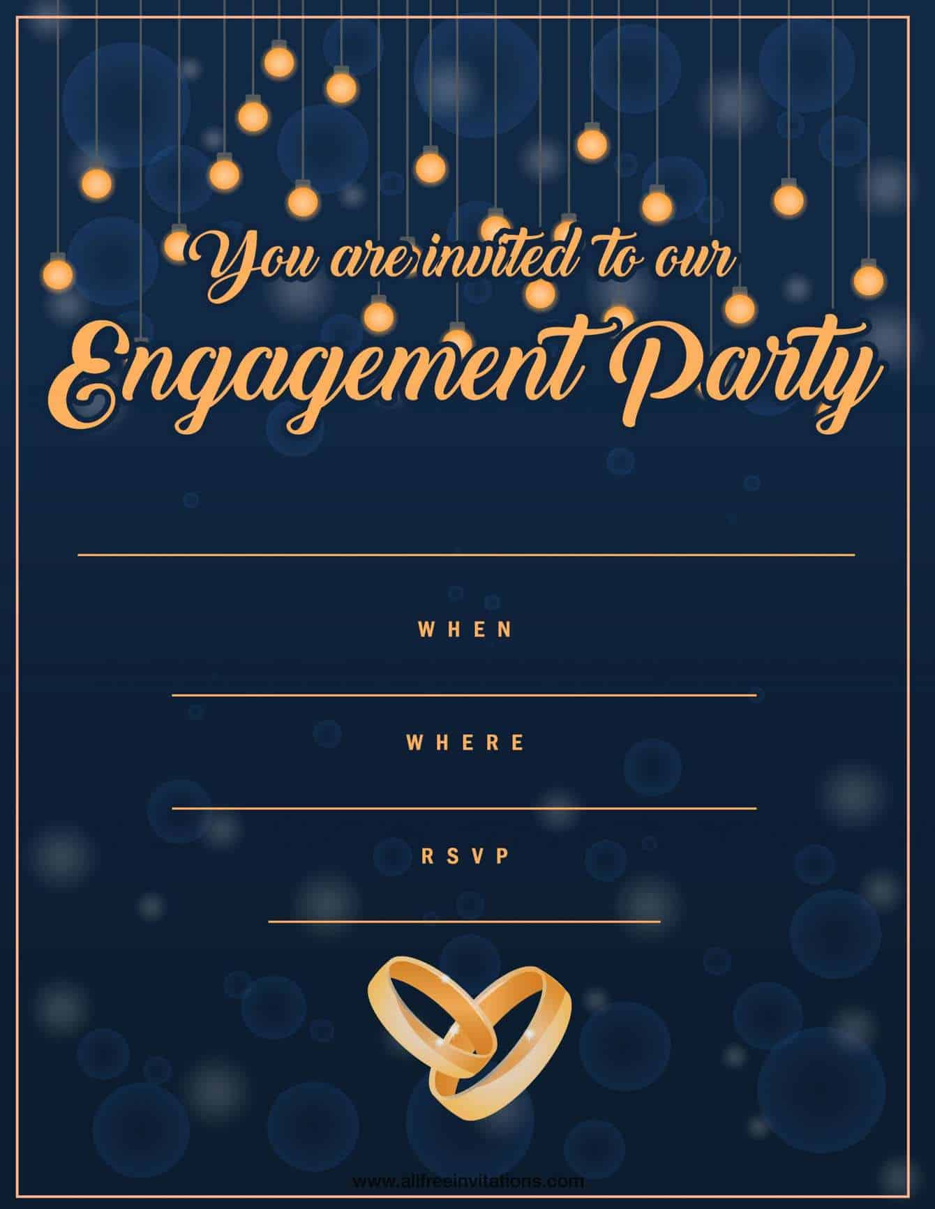 Free Engagement Party Invitations | Modern or Traditional