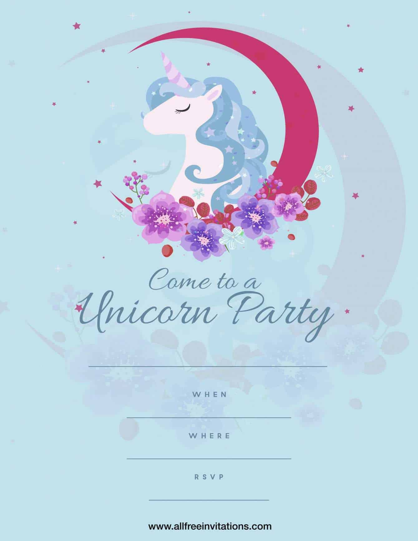 Free Kids Birthday Party Invitations