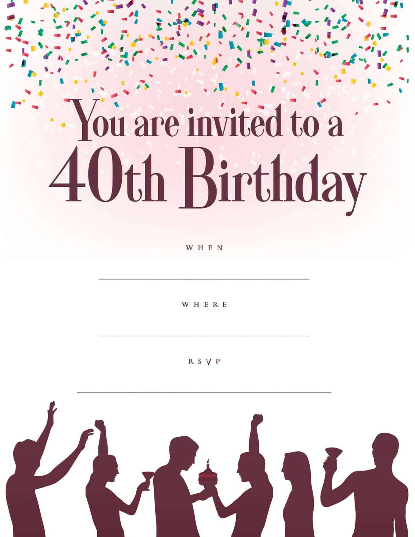 Free Milestone Birthday Party Invitations