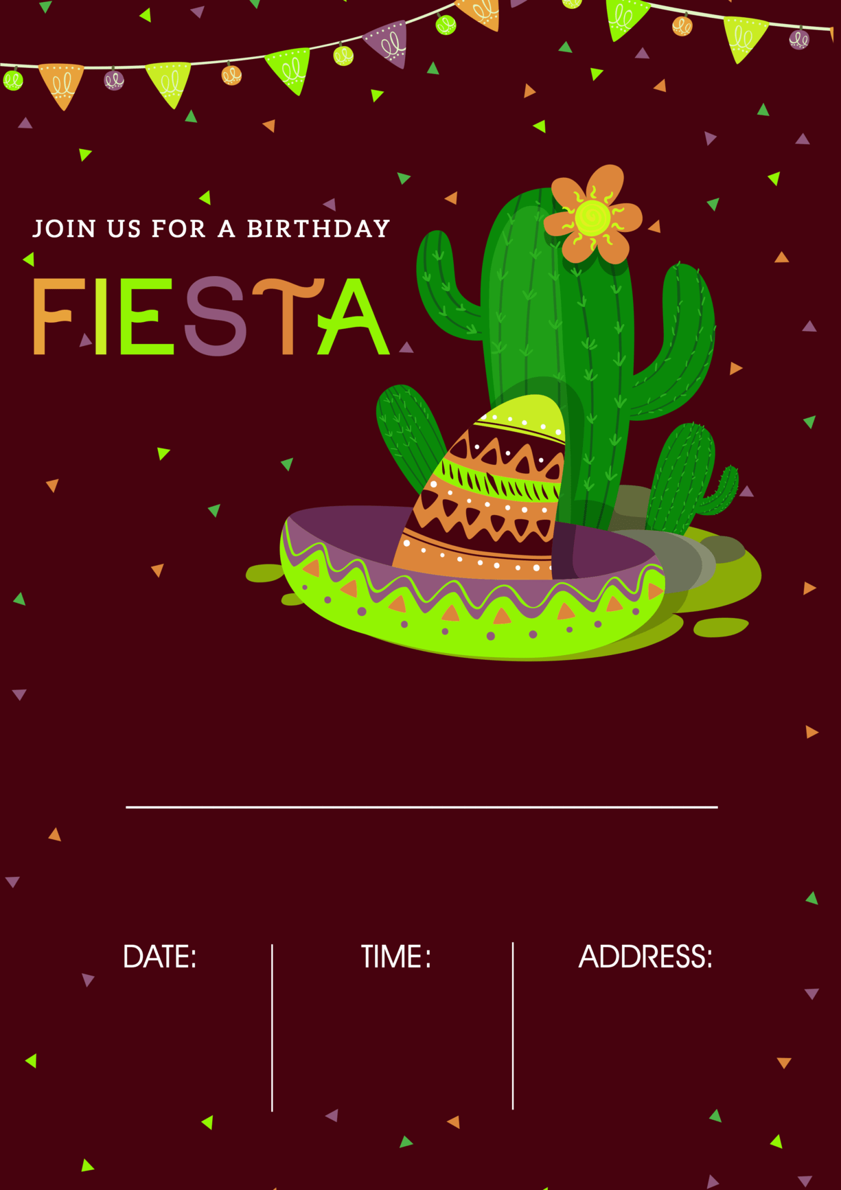 mexican siesta party ideas