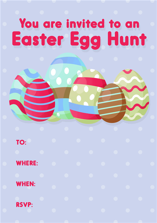 easter egg hunt invitations
