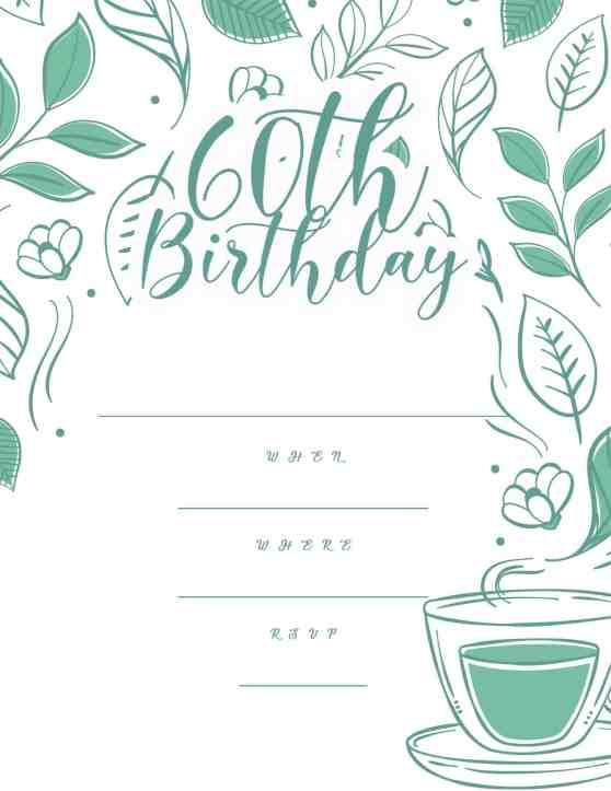60th_birthday green tropical invitation design - 2