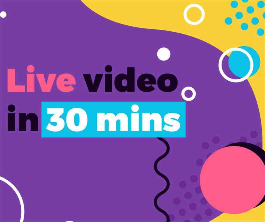 live video in 30 minutes free facebook graphic purple cartoon (Large)