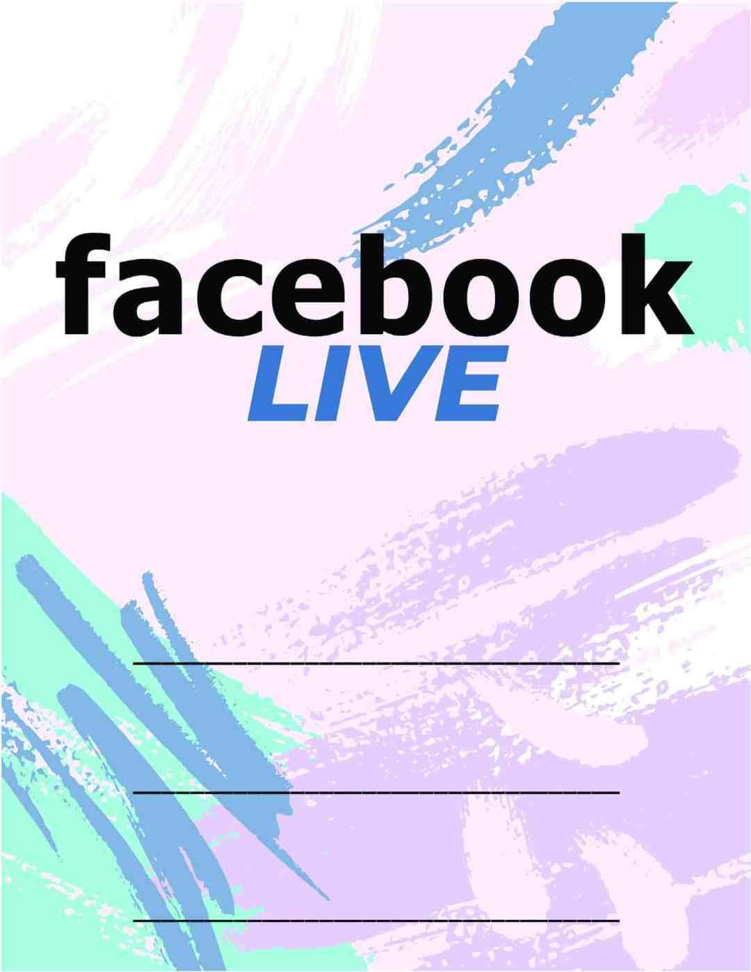 Facebook Live Invitations - Pastel Blue Purple - All Free Invitations