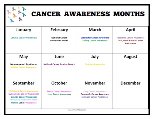 Awareness February Calendar
