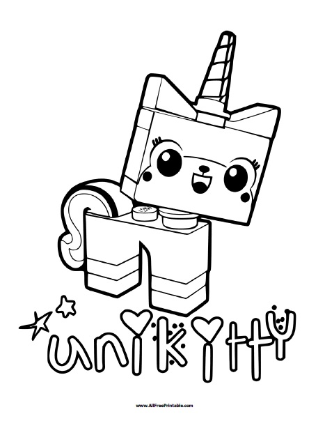lego unikitty coloring page