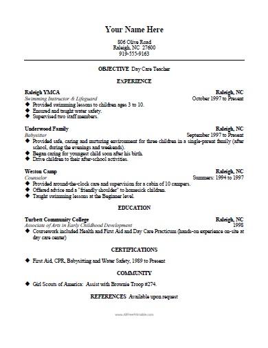 Resume Templates For Teachers Teacher Resumes Teacher Resume