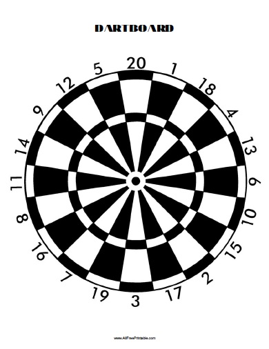 Blank dart board template