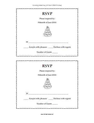 Free Printable Wedding Response Cards