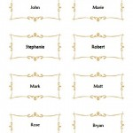 Flat Place Card Template For Wedding