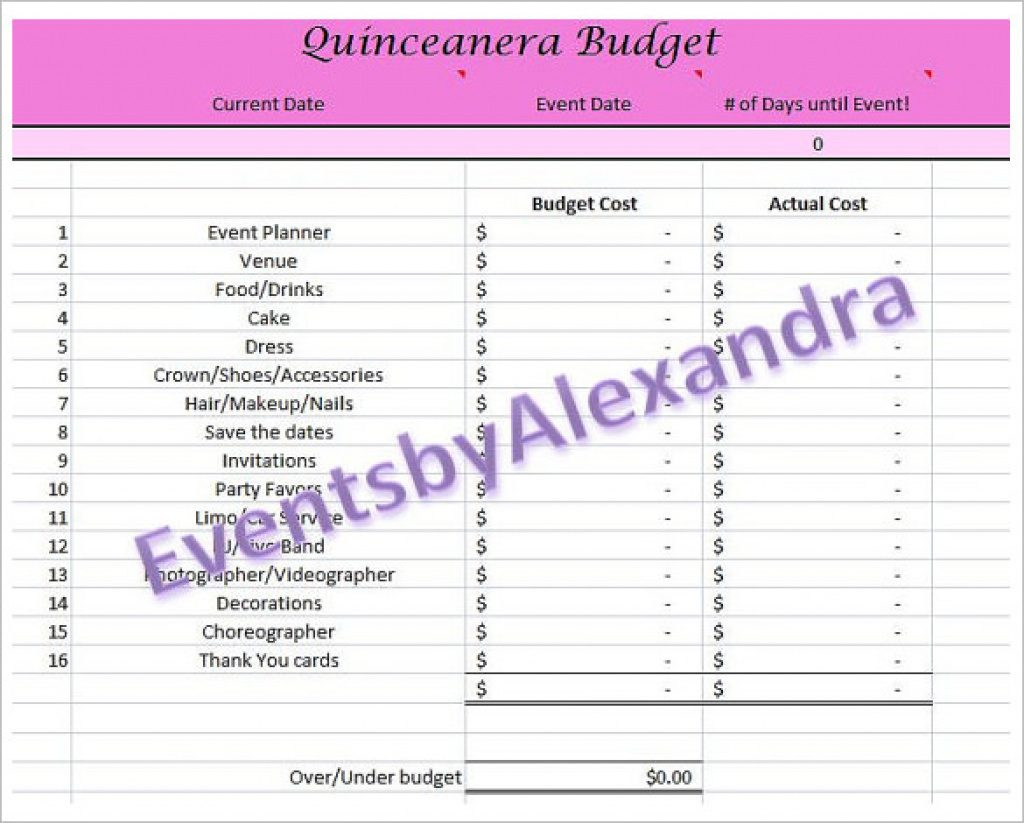 Free Quinceanera Planner Printable