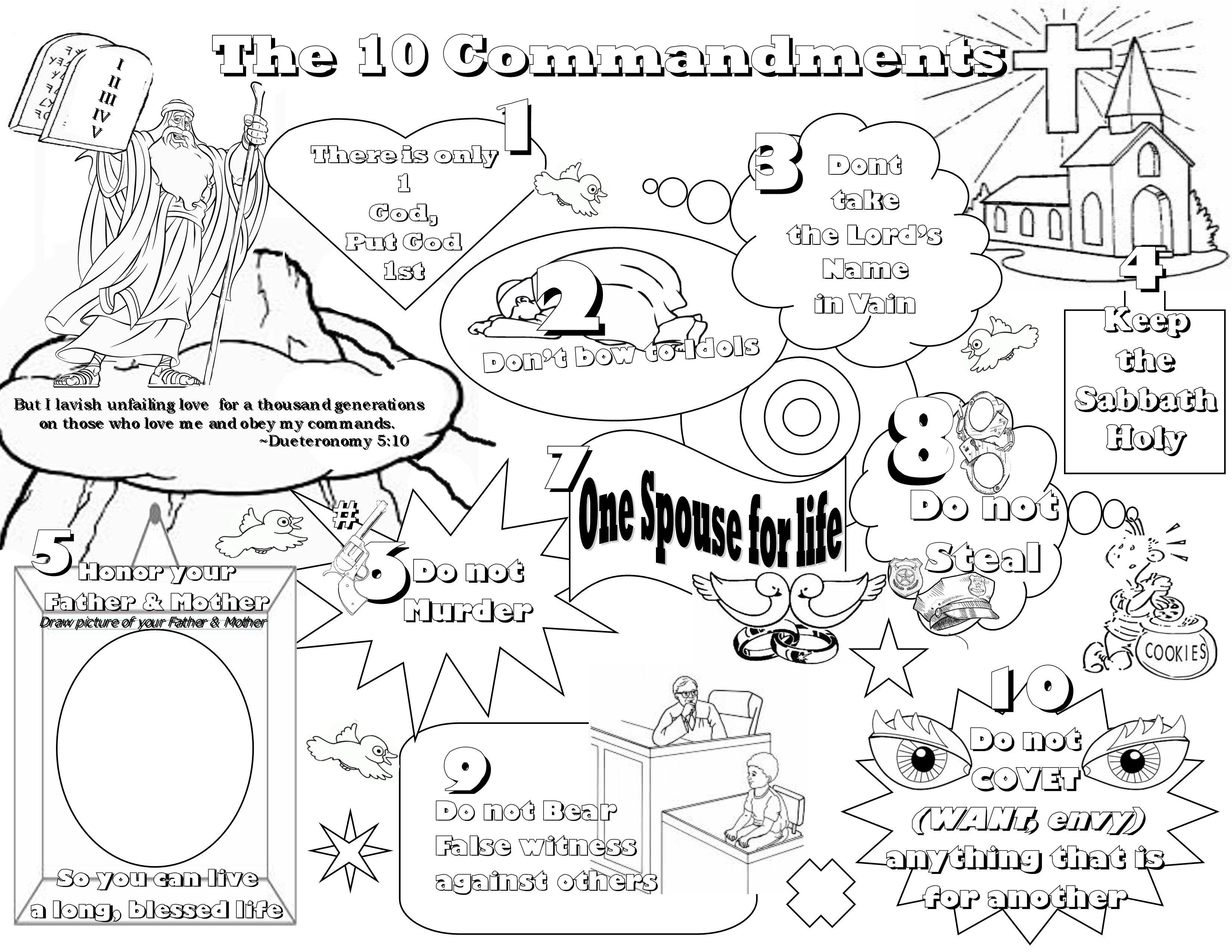 Free Download Blank Ten Commandments Template