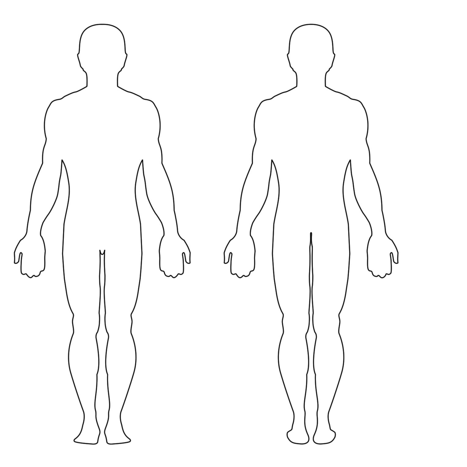 Free Printable Human Body Template