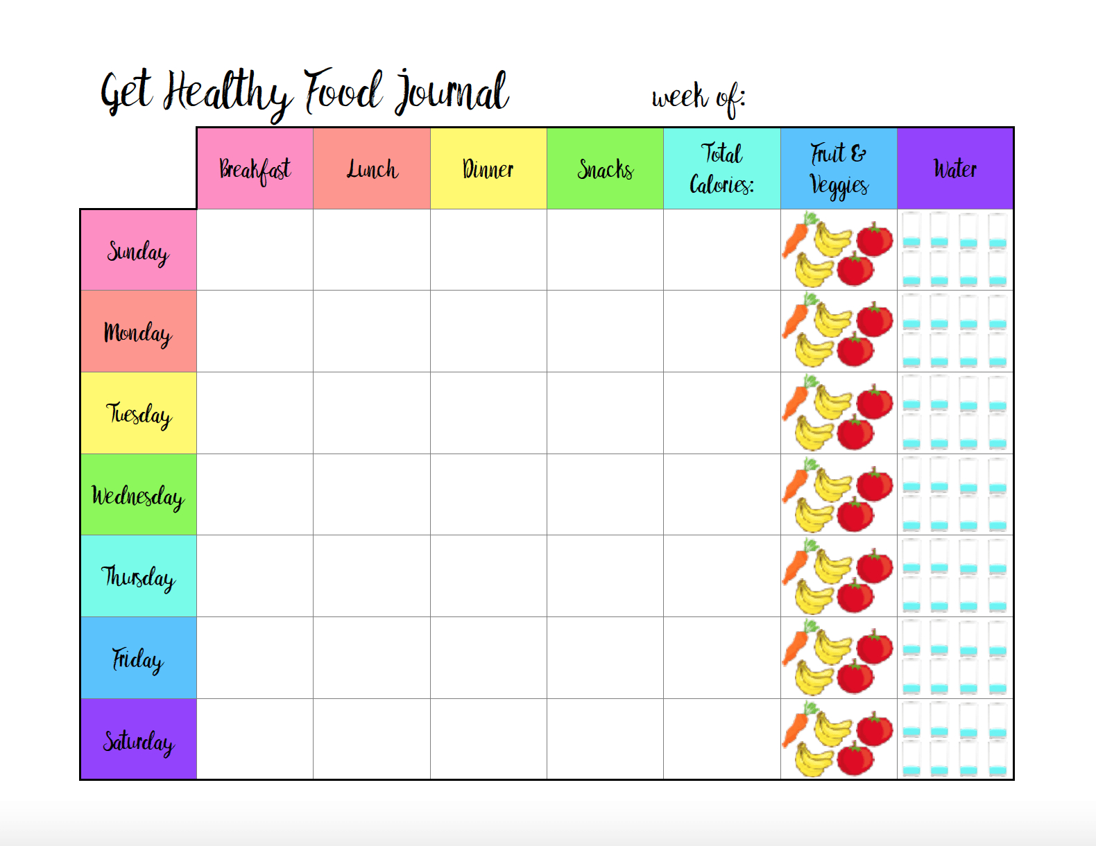 Free Printable Calorie Counter Sheet