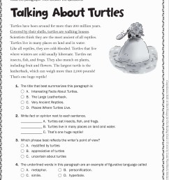 Free 6th Grade Reading Worksheets   Printable Worksheets and Activities for  Teachers [ 3192 x 2368 Pixel ]