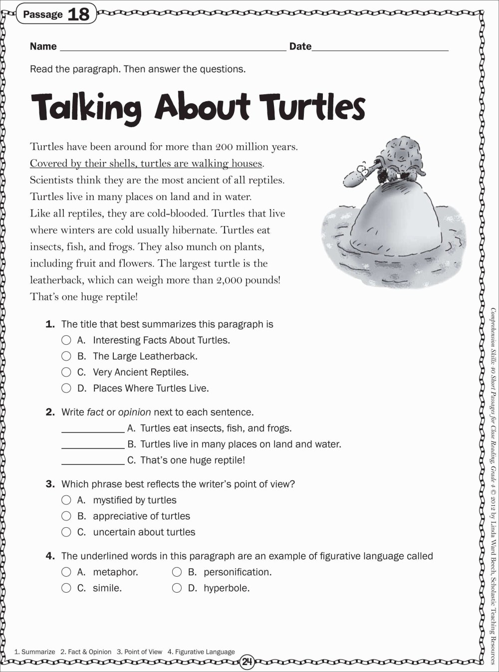 medium resolution of Free 6th Grade Reading Worksheets   Printable Worksheets and Activities for  Teachers