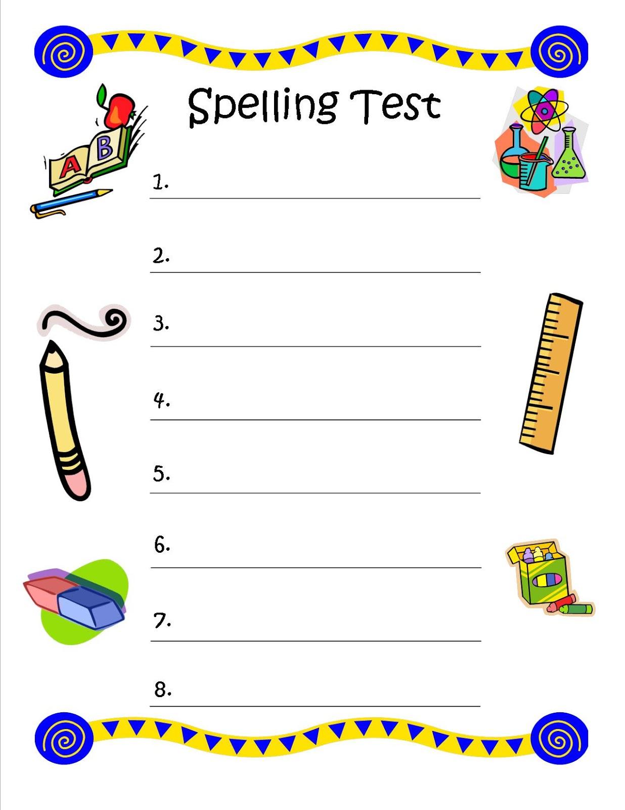 Free Printable Multiple Choice Spelling Test Maker