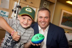 Packers coach Mike McCarthy is dedicated to his community work.