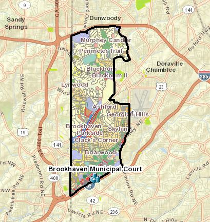 Brookhaven GA Atlanta Map Location