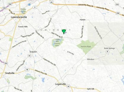 Lawrenceville GA Map Location Of Great Mill