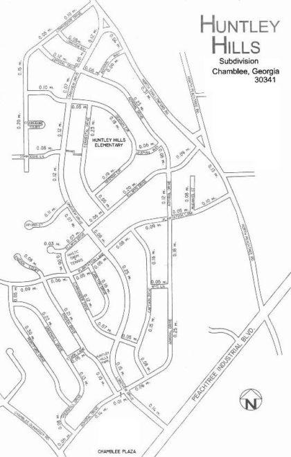 Chamblee Geogria Huntley Hills Chamblee Siteplan