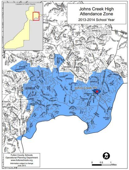 2013-2014 Johns Creek High School Boundary Map