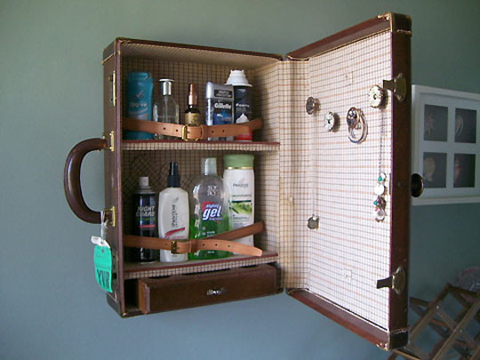 DIY Medicine Cabinet From A Suitcase All Gifts Considered