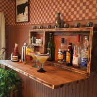 Wall Mounted Home Bar Liquor Cabinet - All Gifts Considered