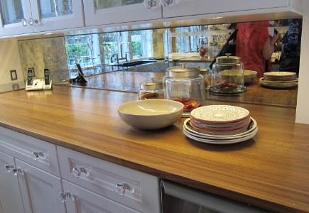 kitchen backsplash mirror photos - kitchen design