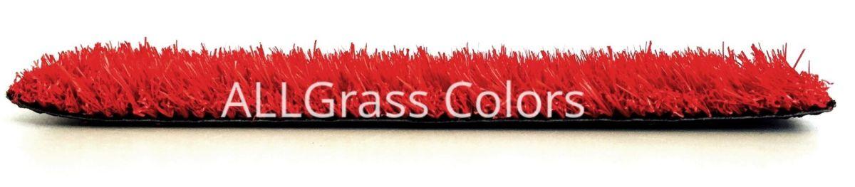 cesped artificial rojo