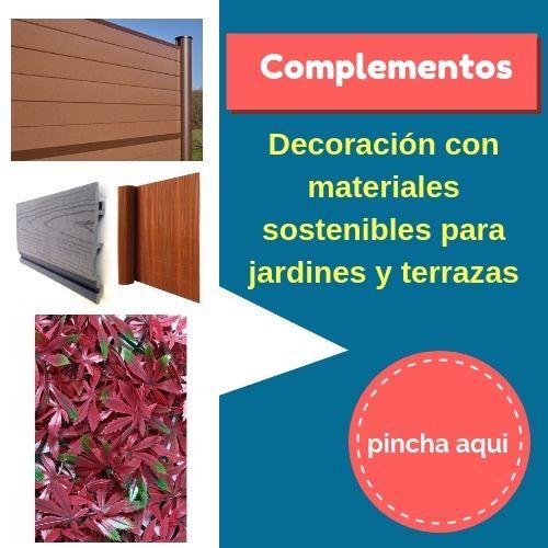 complementos para decorar jardines y terrazas
