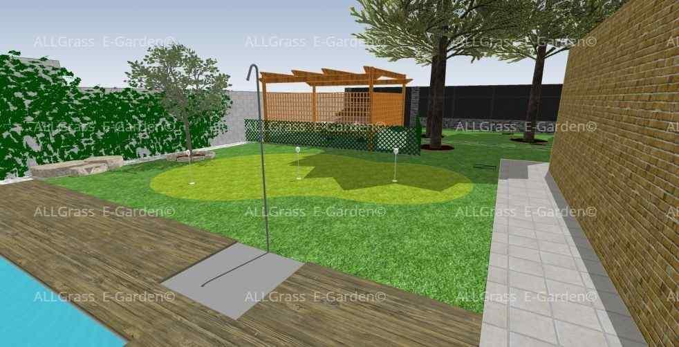 diseño 3D de jardines con golf