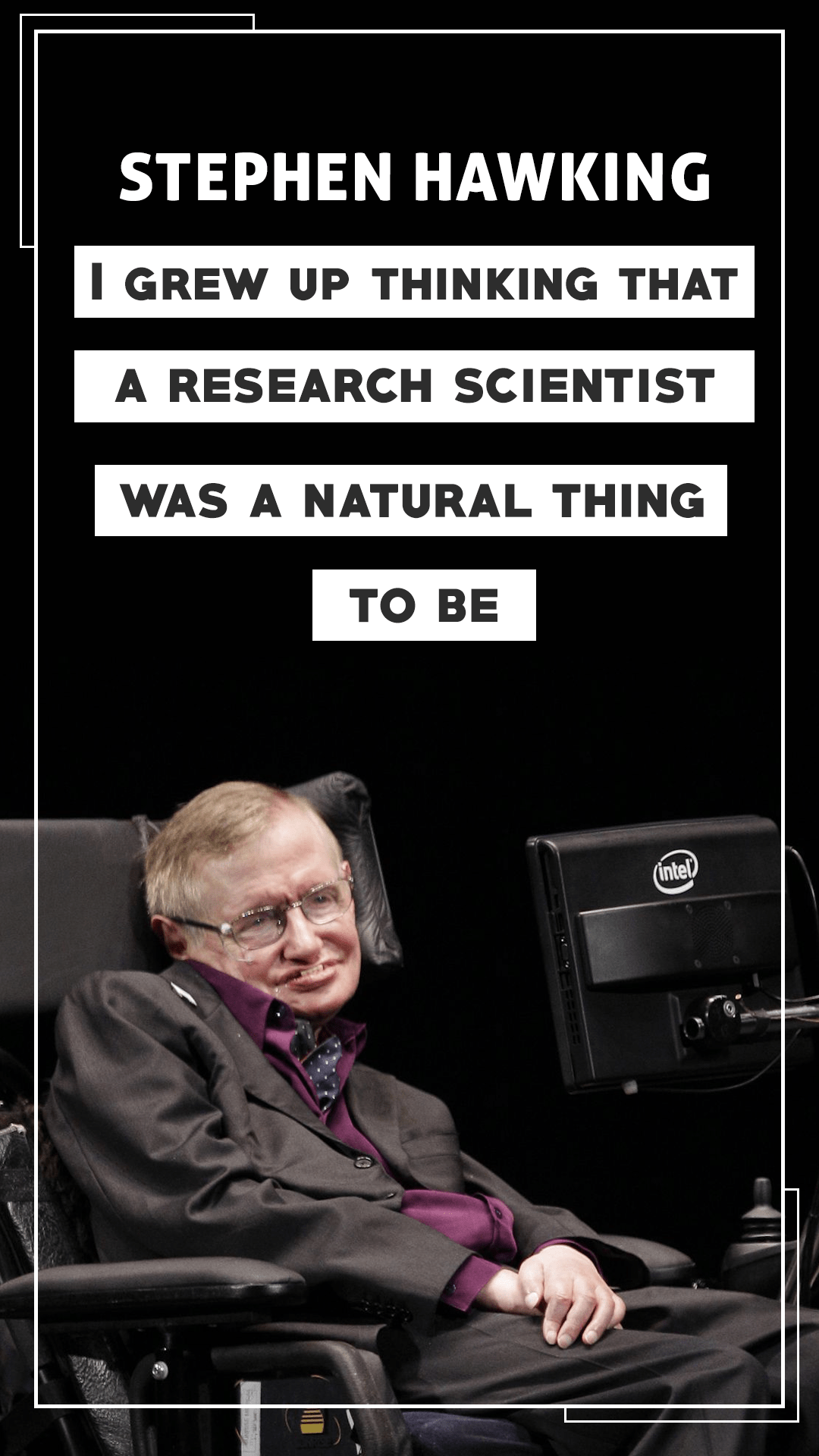 How To Change The Wallpaper On Iphone Stephen Hawking Quotes Wallpapers 2018