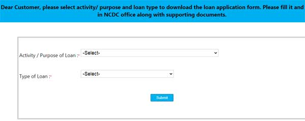 Common Loan Application Form