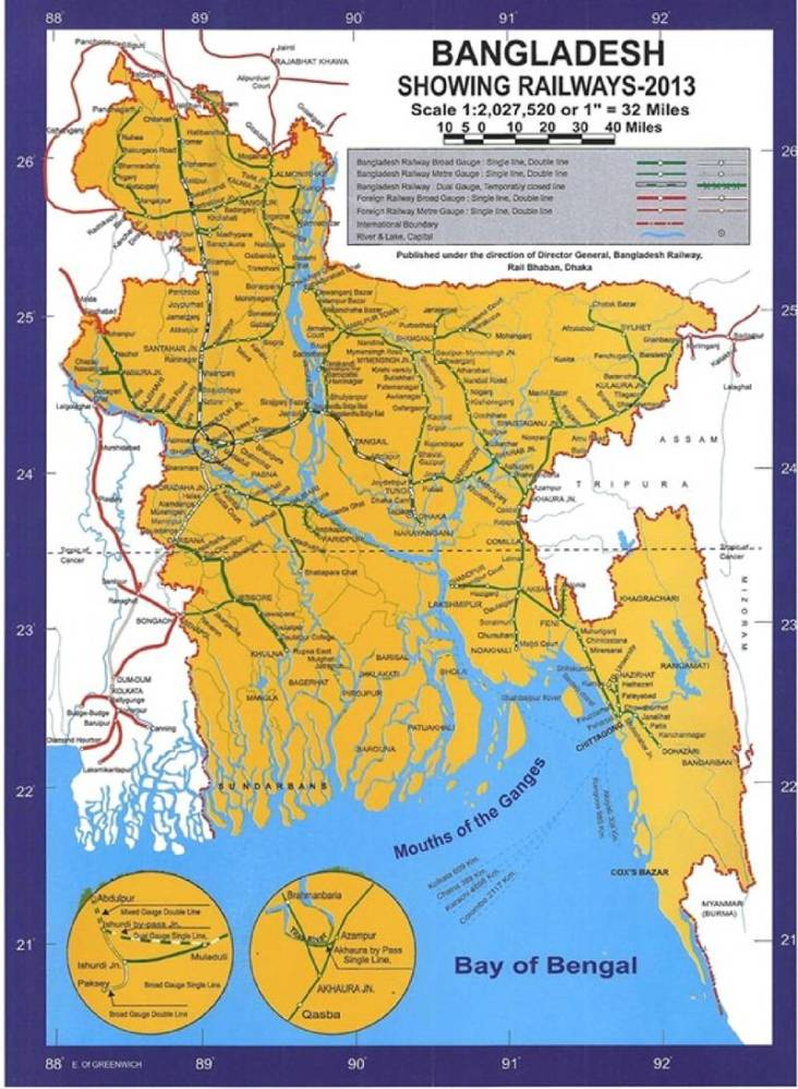 Dhaka to Noakhali Train Route Map