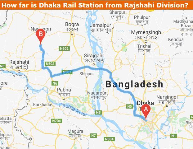 Dhaka to Rajshahi Train Route Map