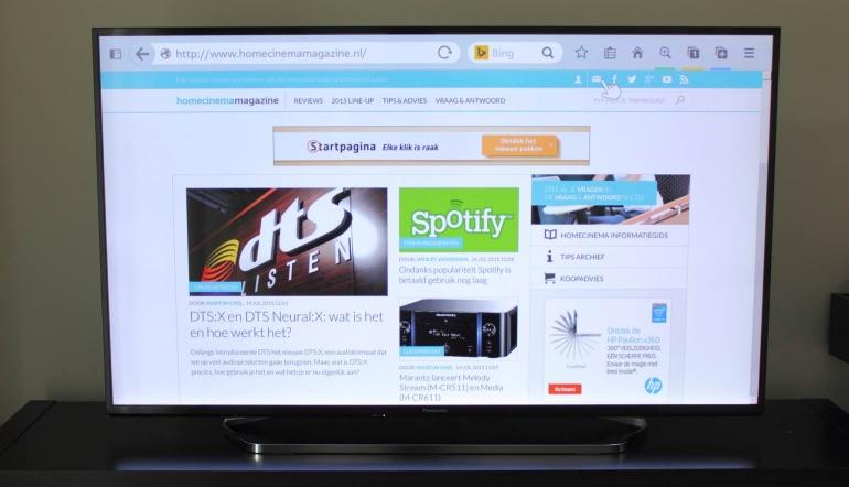 Review-Panasonic-CX740E browser
