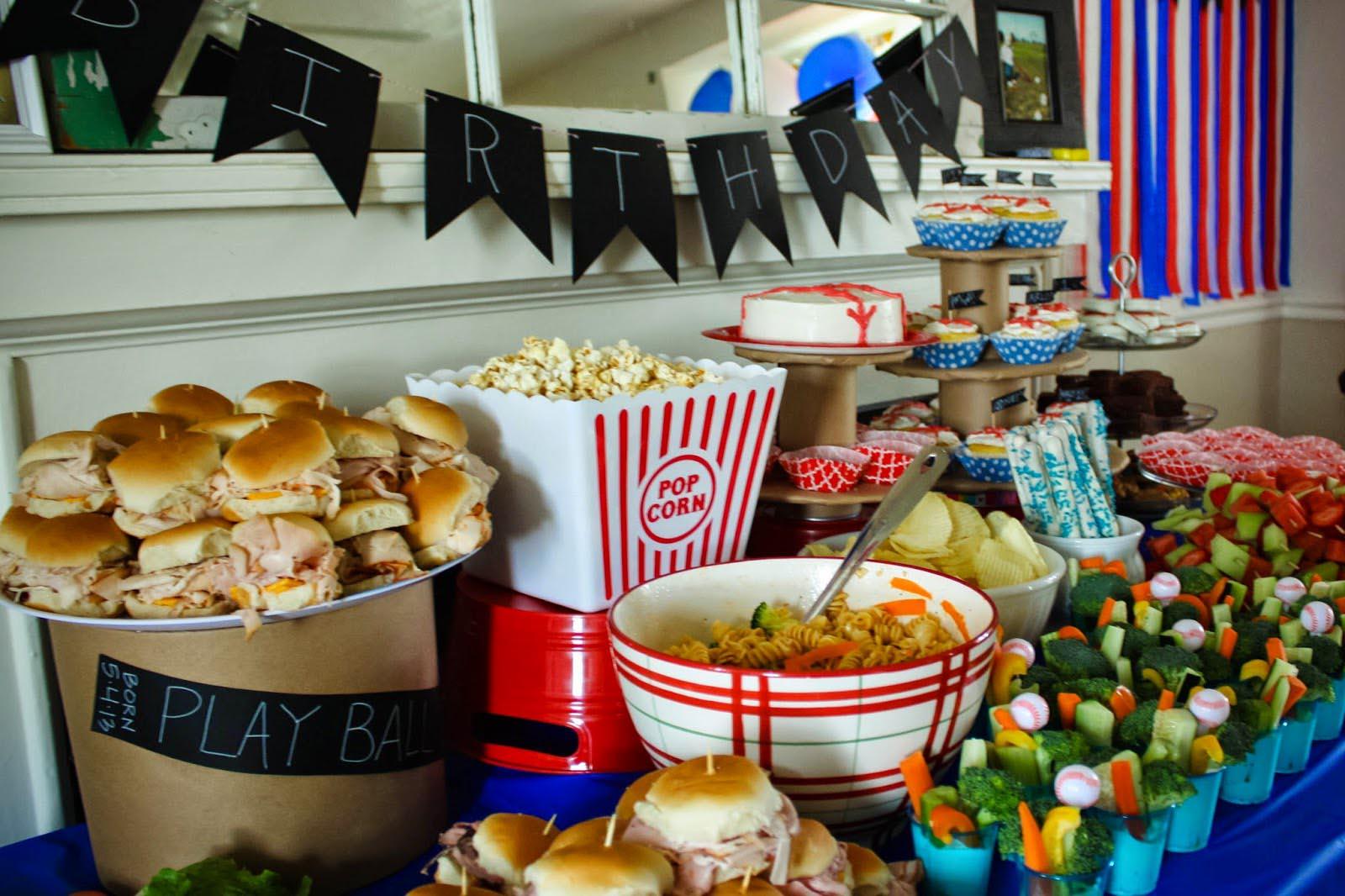 baseball birthday party food