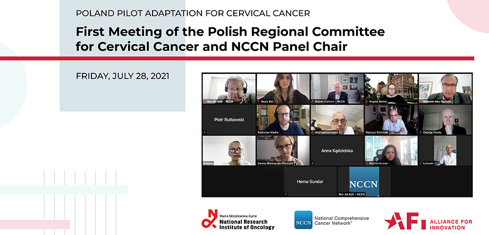 First Meeting of the Polish Regional Committee for Cervical Cancer and NCCN Panel Chair