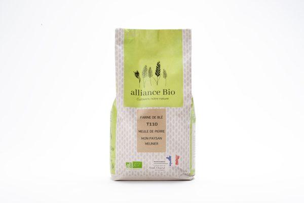 Minoterie vente en ligne farines blé ancien complète T110 meule de pierre bio